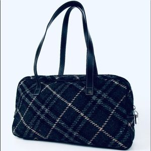 "BURBERRY Wool Shoulder Bag - 14""x7"""
